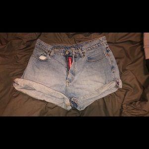 ralph lauren high rise polo jean shorts